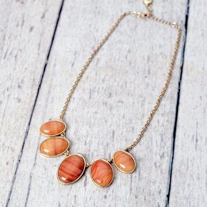 Sonoma Peach and Gold Statement Necklace